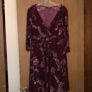 NWOT XL Chaps print dress